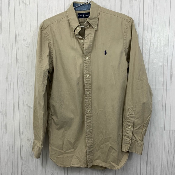Ralph Lauren Other - RALPH LAUREN MENS TAN KHAKI BUTTON FRONT SMALL